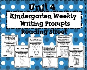 Reading Street Kindergarten Weekly Writing Prompts Unit 4