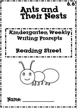 Reading Street Kindergarten Weekly Writing Prompts Unit 6
