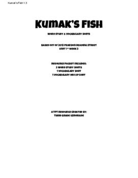 Reading Street Kumak's Fish Word Study and Vocabulary Sorts