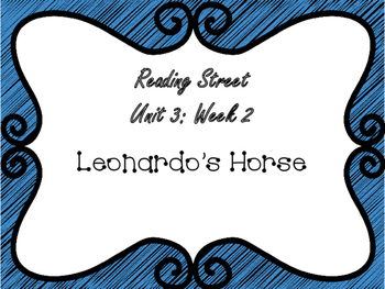 Reading Street: Leonardo's Horse Posters & Activities