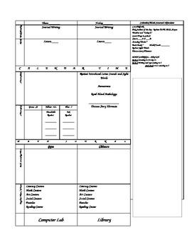 Reading Street Lesson Plan Outline - Kindergarten