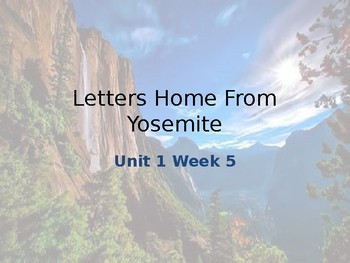 Reading Street: Letters Home From Yosemite Vocabulary