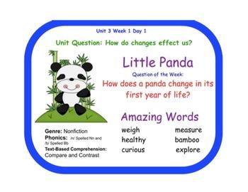 Reading Street Little Panda Flipchart Days 1-5