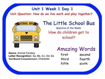 Reading Street Little School Bus Flip Chart (Days 1-5)