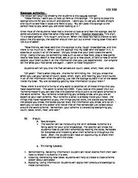 Schema Lesson Plan