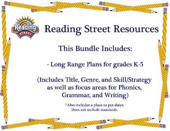 Reading Street - Long Range Plans for Grades K-5