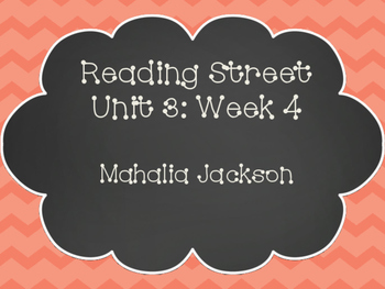 Reading Street: Mahalia Jackson Posters & Activities