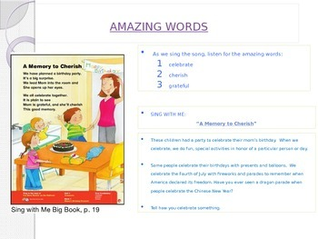 "Reading Street ""Mama's Birthday Present"" Weekly PowerPoint"