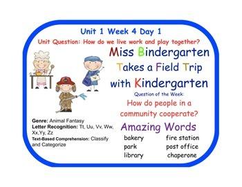Reading Street Miss Bindergarten Flip Chart