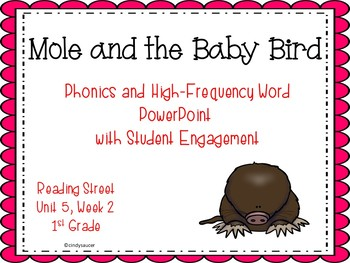 Mole and the Baby Bird , Whole Group or TIER Groups PowerPoints, Reading Street