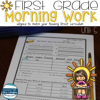 Morning Work First Grade Unit 5