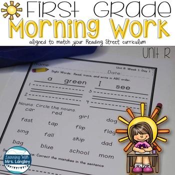 1st Grade Morning Word Work Unit R