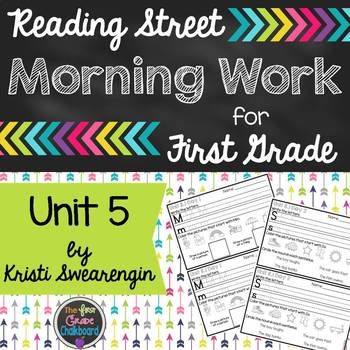 Reading Street Morning Work First Grade Unit 5