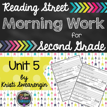 Reading Street Morning Work Second Grade Unit 5