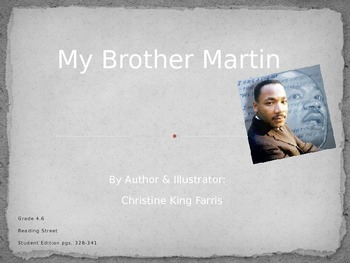 Reading Street:  My Brother Martin PPT