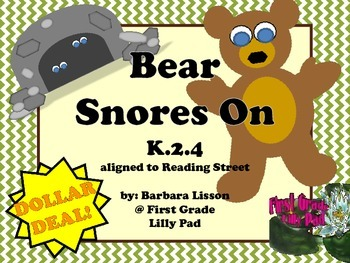 Reading Street NO-PREP Printables: (Bear Snores On)