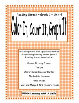 Reading Street FIRST GRADE SPELLING Unit 4: Color It, Count It, Graph It!
