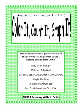 Reading Street FIRST GRADE Unit 5 Literacy Activity: Color, Count, Graph It!