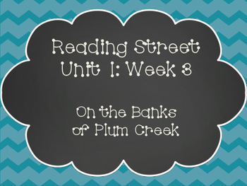 Reading Street: On the Banks of Plum Creek Posters & Activities