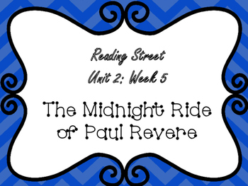 Reading Street: Paul Revere's Midnight Ride Posters Only Pack