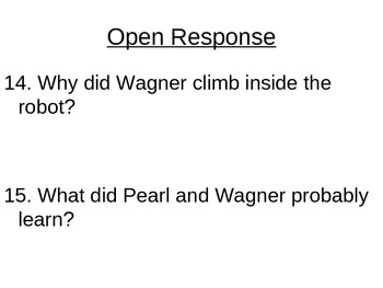 """Reading Street """"Pearl and Wagner"""" Selection Test (Turning Point)"""