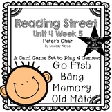 Reading Street: Peter's Chair 4-in-1 Words with -ue, -ui, -ew and HFW Games