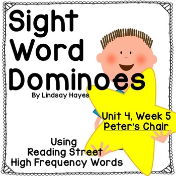 Reading Street: Peter's Chair, Sight Word Dominoes
