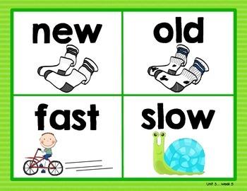 Reading Street Vocabulary Posters - Kindergarten