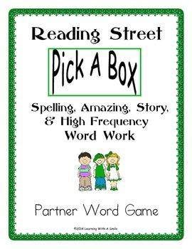 Reading Street FIRST GRADE Partner Game: Spelling/Story/Am