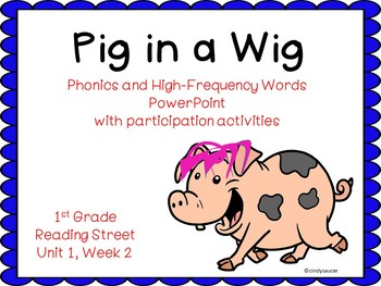 1st Grade Interactive PowerPoint, Pig in a Wig