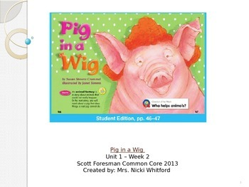 """Reading Street """"Pig in a Wig"""" Weekly PowerPoint"""