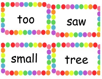 Reading Street Polka Dot Sight Words: 1st grade