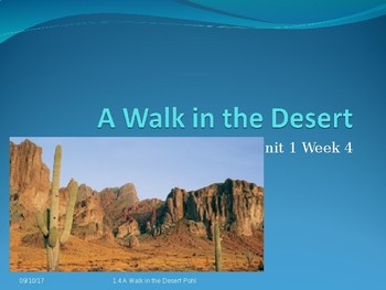 Reading Street Power-Point: A Walk In The Desert