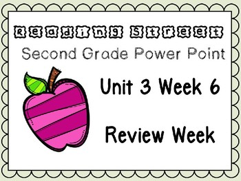Reading Street Power Point Review Week Unit 3. Second Grade