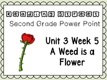 Reading Street Power Point Unit 3 Week 5 A Flower is a Weed. Second Grade