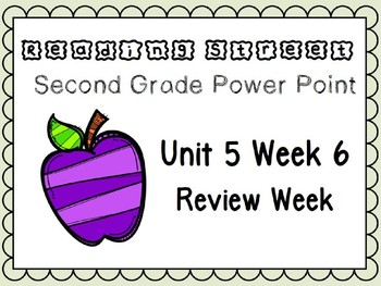 Reading Street Power Point Unit 5 Week 6. Second Grade