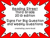 Reading Street Third Grade Question Posters - warm colors