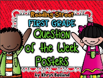 Reading Street Question of the Week Posters - First Grade