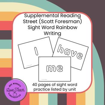 Reading Street Rainbow Word Writing