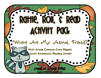 Reading Street - Rattle, Roll, & Read Act. Pack - {Where Are My Animal Friends?}