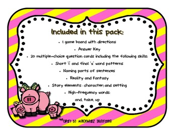 Reading Street - Rattle, Roll, & Read Activity Pack - {Pig in a Wig}