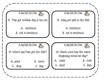 Reading Street - Rattle, Roll, and Read Activity Pack - {A Big Fish for Max}
