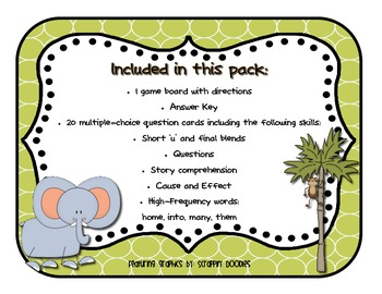 Reading Street - Rattle, Roll, and Read Activity Pack - {Animal Park}