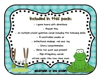 Reading Street - Rattle, Roll, and Read Activity Pack - {Frog and Toad Together}