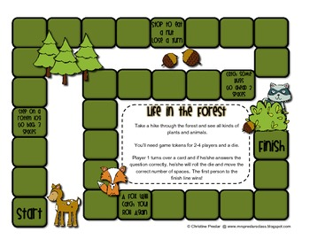 Reading Street - Rattle, Roll, and Read Activity Pack - {Life in the Forest}