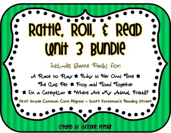 Reading Street - Rattle, Roll, and Read Activity Pack - {U