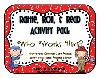 Reading Street - Rattle, Roll, and Read Activity Pack - {Who Works Here?}