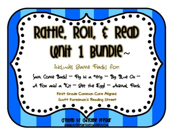 Reading Street - Rattle, Roll, and Read Activity Packs Bundle - {Unit 1}