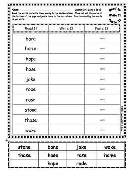 Reading Street FIRST GRADE SPELLING Units 1-5: Read It, Write It, Paste It
