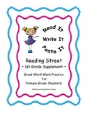 Reading Street FIRST GRADE SPELLING Units 1-5: Read It, Write It, Paste It